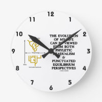 Evolution Phyletic Gradualism Punctuated Equilibrm Round Wallclock