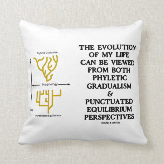 Evolution Phyletic Gradualism Punctuated Equilibrm Throw Pillow