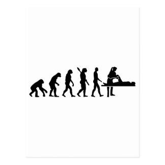Evolution physiotherapist postcard
