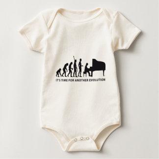evolution piano baby bodysuit
