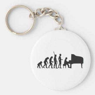 evolution piano basic round button keychain