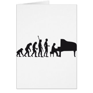 evolution piano greeting cards