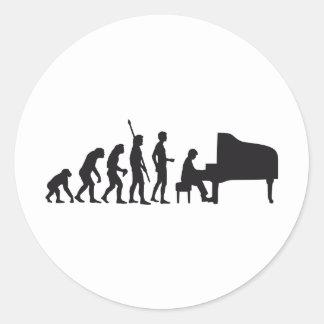 evolution piano classic round sticker