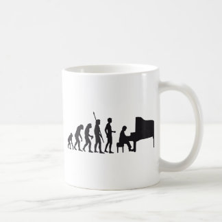 evolution piano classic white coffee mug