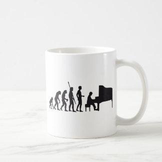 evolution piano coffee mug