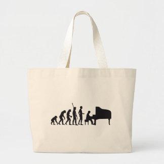 evolution piano large tote bag