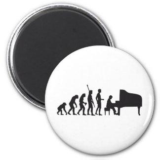 evolution piano fridge magnet