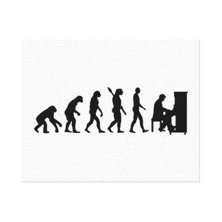 Evolution Piano pianist Canvas Print
