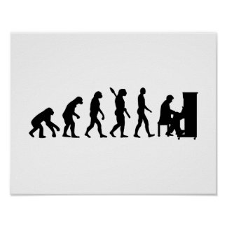 Evolution Piano pianist Poster