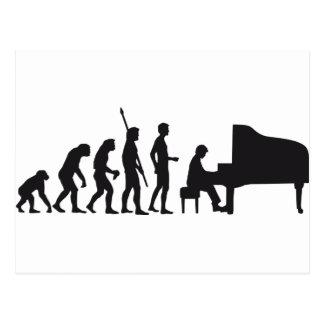 evolution piano postcard