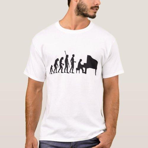 evolution piano T_Shirt