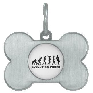 Evolution Poker Pet Name Tags