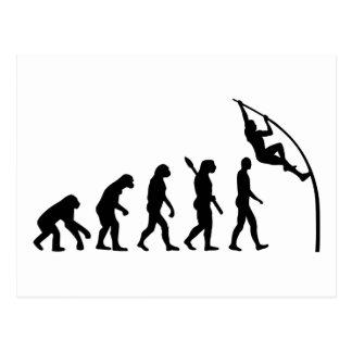 Evolution Pole vault Postcard