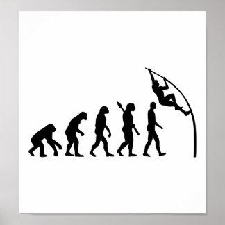 Evolution Pole vault Posters