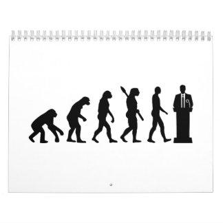 Evolution Politician Calendar