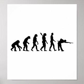 Evolution Pool billiards Poster