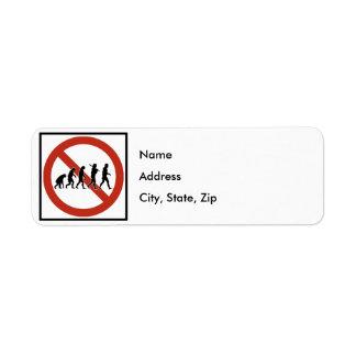 Evolution Prohibited Highway Sign Label