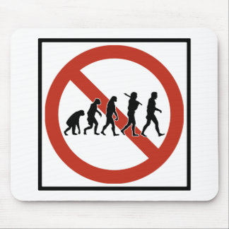 Evolution Prohibited Highway Sign Mouse Pad