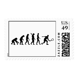 Evolution Racquetball Postage Stamp