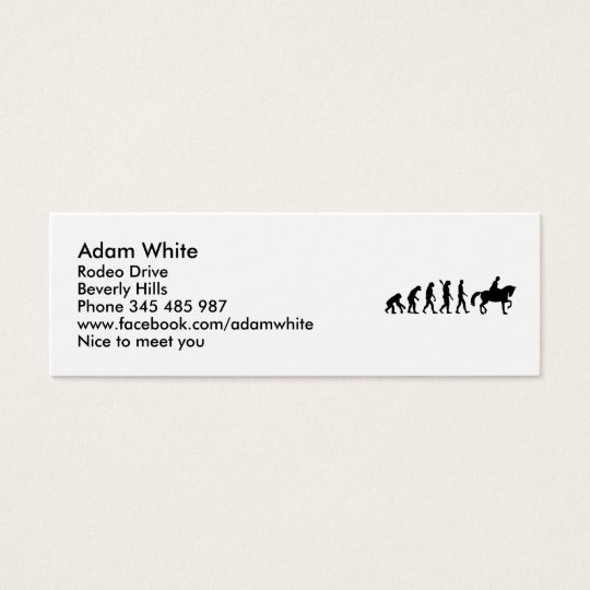 Evolution Riding horse Mini Business Card