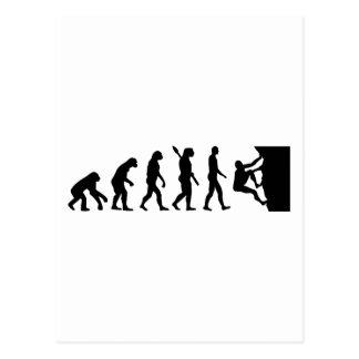 Evolution rock climbing postcard