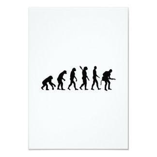 Evolution Rock musician star 3.5x5 Paper Invitation Card