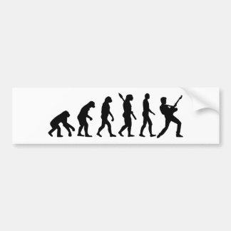 Evolution Rock musician star Bumper Sticker