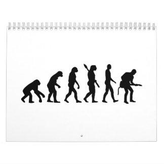 Evolution Rock musician star Calendar