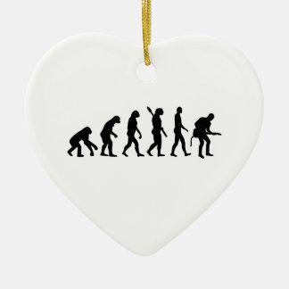 Evolution Rock musician star Double-Sided Heart Ceramic Christmas Ornament