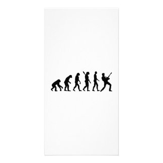 Evolution Rock musician star Personalized Photo Card
