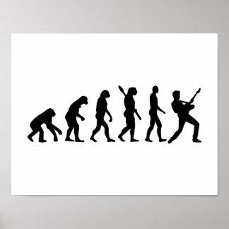 Evolution Rock musician star Poster