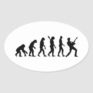 Evolution Rock musician star Stickers