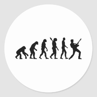 Evolution Rock musician star Sticker