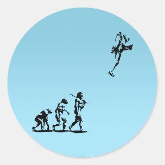 Evolution Rocket Round Sticker