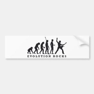 evolution rocks auto aufkleber