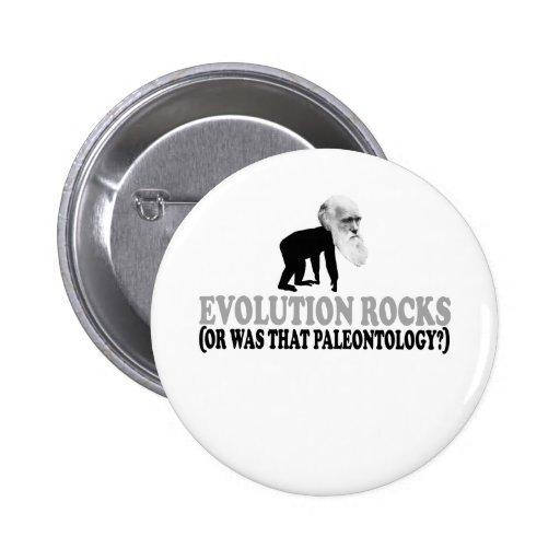 Evolution rocks pinback button