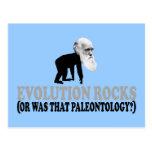 Evolution rocks post cards