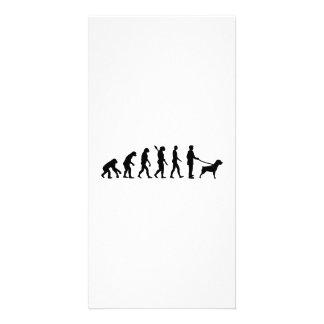 Evolution Rottweiler Photo Card