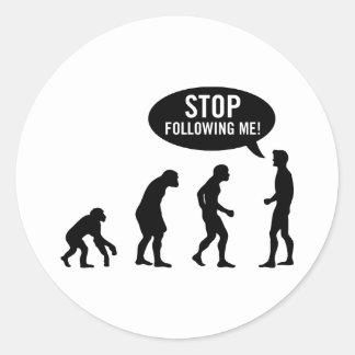 evolution round sticker