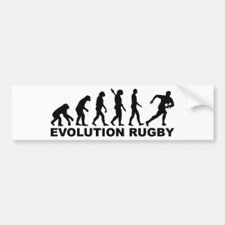 Evolution Rugby Car Bumper Sticker