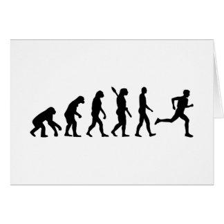 Evolution running marathon card