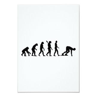 """Evolution Running start 3.5"""" X 5"""" Invitation Card"""
