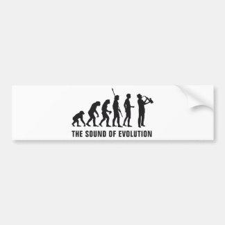 Evolution saxophone bumper sticker