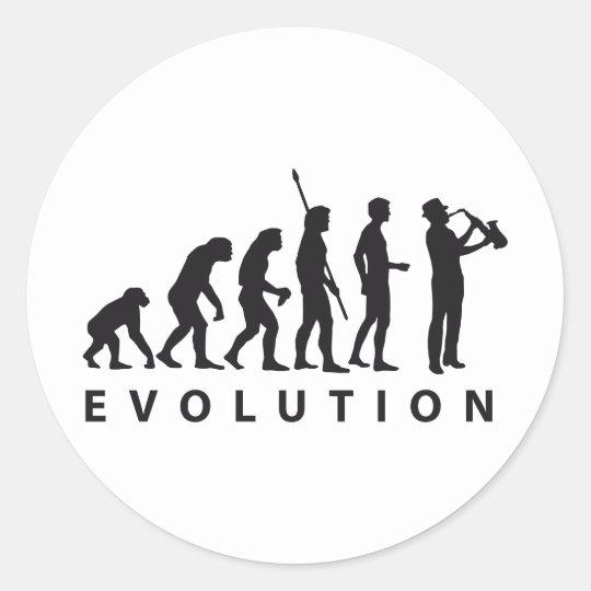 evolution saxophone classic round sticker