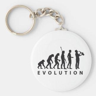 evolution saxophone keychain