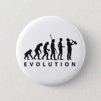 evolution saxophone pinback button