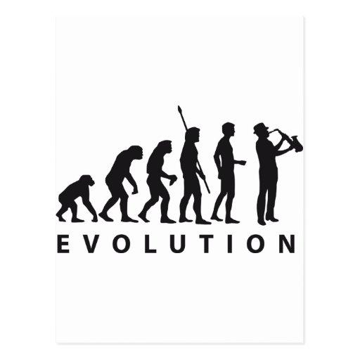 evolution saxophone post card