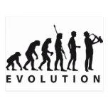 evolution saxophone post cards