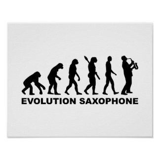 Evolution Saxophone Poster