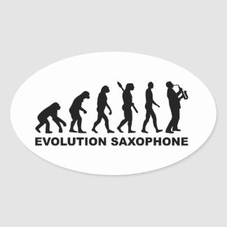 Evolution Saxophone Oval Sticker